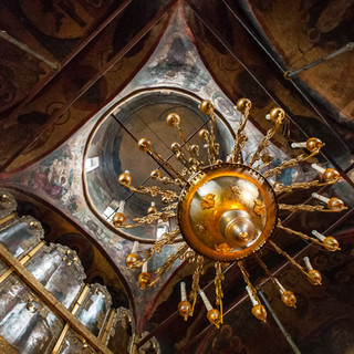 Внутри Рождественского собора, Саввино-Сторожевский монастырь Interior of Nativity Cathedral, Savvino-Storozhevsky Monastery