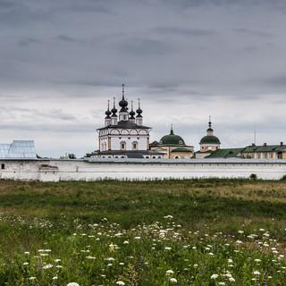 Белопесоцкий монастырь на левом берегу Оки Belopesotsky Monastery on the left bank of Oka river