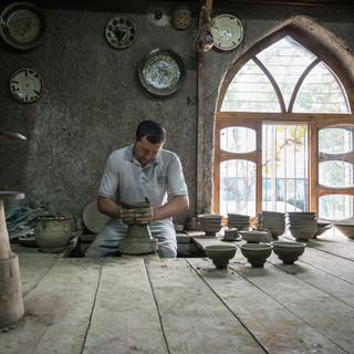 В гончарной мастерской, Гиждуван In a pottery workshop in Gijduvon
