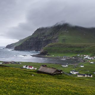 Дервня Фамйин на острове Сувурой Fámjin village, Suðuroy island