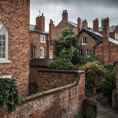 Уголок Честера с городской стены A nook of Chester seen fron the town wall