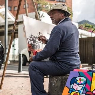 На пленэре, район Усакен, Богота In the open air, Usaquén neighbourhood, Bogotá