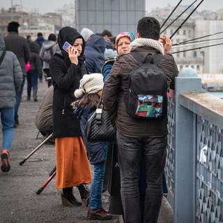 На Галатском мосту  In Galata Bridge