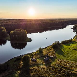 Закат на Почозере, Архангельская область  Sunset over Pochozero lake, Arkhangelsk region