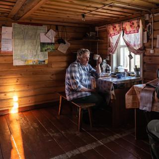 В домике егеря, Кенозерский национальный парк, Архангельская область  In a gamekeeper's house, Kenozero national park, Arkhangelsk region