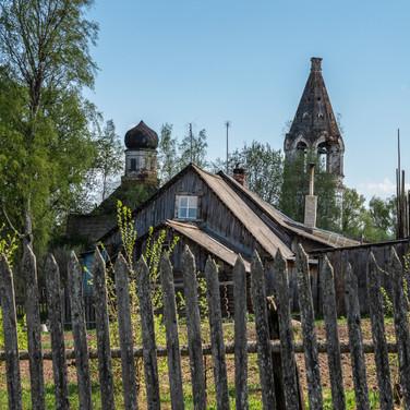 Замерье, Костромская область. Троицкая церковь, 1870  Zamerye, Kostroma region. Trinity church, 1870