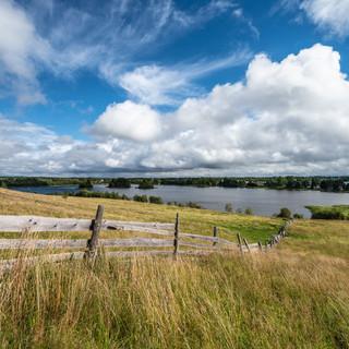 Поля и Спасское озеро, Ферапонтово, Вологодская область  Fields and Spasskoye lake, Ferapontovo, Vologda region