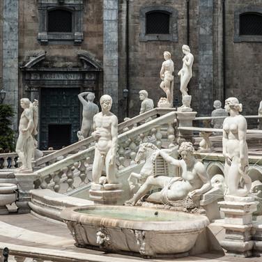 Фонтан на Пьяцца Претория, Палермо Fountain in Piazza Pretoria, Monreale