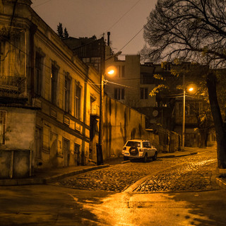 Ночью на улицах Тбилиси By night in the streets of Tbilisi