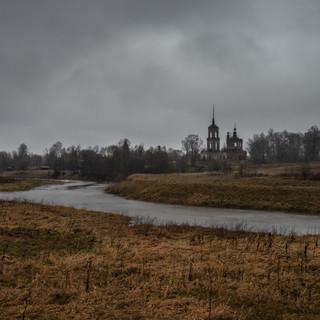 Перетерье, Тверская область. Покровская церковь, 1830  Pereterye, Tver region. Intercession church, 1830