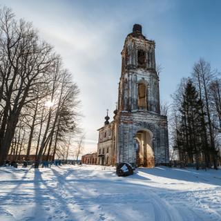Городок, Ярославская область. Спасо-Преображенская церковь, 1783-1791  Gorodok, Yaroslavl region. Transfiguration church, 1783-1791