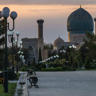 Мавзолей Гур-Эмир на рассвете, Самарканд Gur-e-Amir mausoleum by dawn, Samarkand