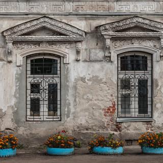 Окна дома Ротиных в Коломне Windows of Rotin family mansion in Kolomna
