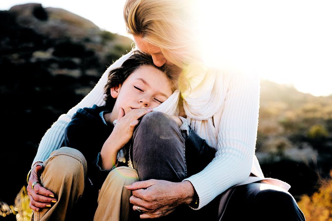 Mom & Son in the sun