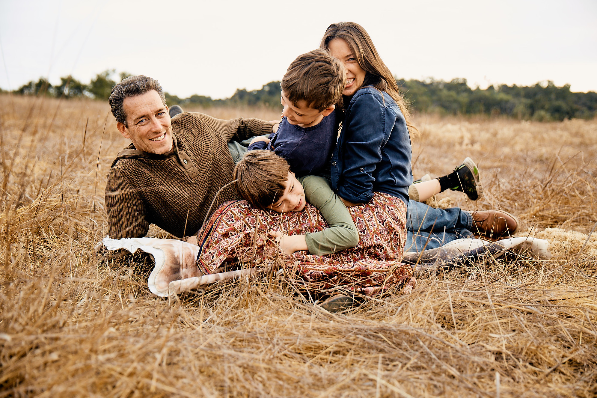 Lifestyle Family Portrait | Family playing in the high grass of Los Angeles |  Family Photographer | Los Angeles | Story Telling | Family Photoshoot