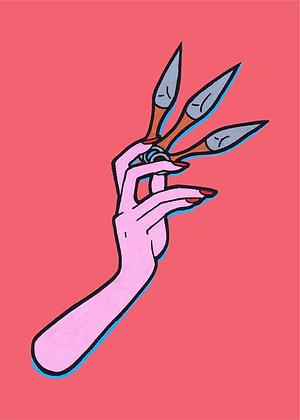 """Throwing Knives"" Pop Art Print"