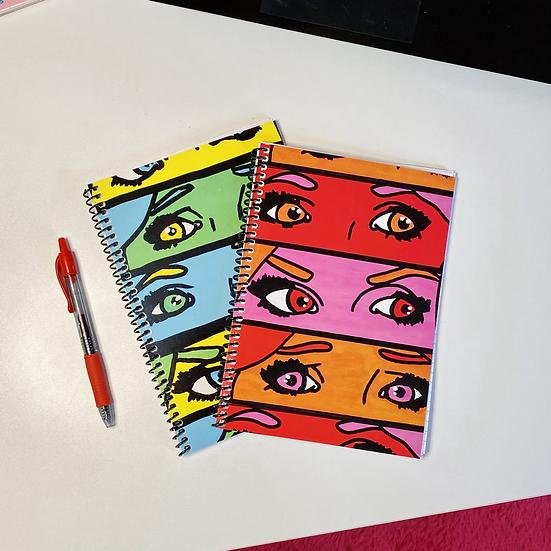 Pop Art Eyes Small Spiral Notebook