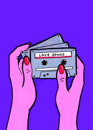 """""""Love Songs"""" Pop Art Print"""