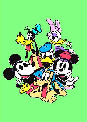 """Mickey and Friends"" Pop Art Print"