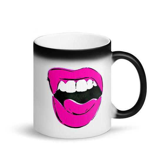 Scream and Shout Matte Black Magic Mug