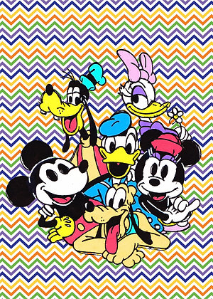 """""""The Mouse And Friends"""" Pop Art Print"""