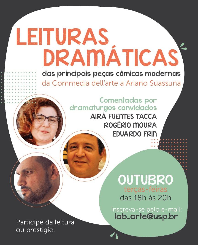 Leituras dramáticas - outubro/2020