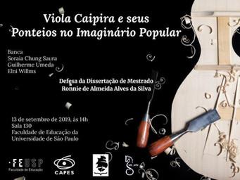 """Agenda   13/09   Defesa de mestrado """"Viola Caipira e seus Ponteios no Imaginário popular"""""""