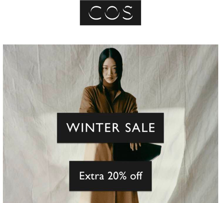 COS store winter sale up to 70% off