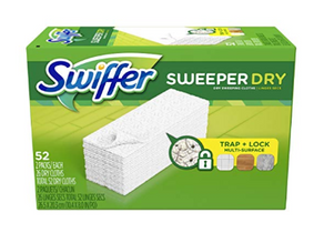 $4불 할인! 최저가 Swiffer Sweeper Dry Mop Refiills 52장/$7.37 (<<$11.97)/아마존 할인쿠폰+S&S