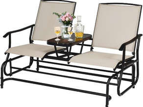 Costway Patio Double Rocking Chair with Center Table $179.99 << $389.99