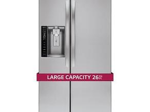LG Side-by-Side Refrigerator 26 cu.ft. $1,149.99 ($300 Off)