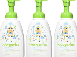 Babyganics 젖병세정제 3팩 $11.82 (<<$16.89)/ 아마존 할인 쿠폰+ S&S