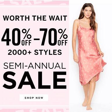 Victoria's Secret 최고 70% 할인 / Simi-Annual Sale