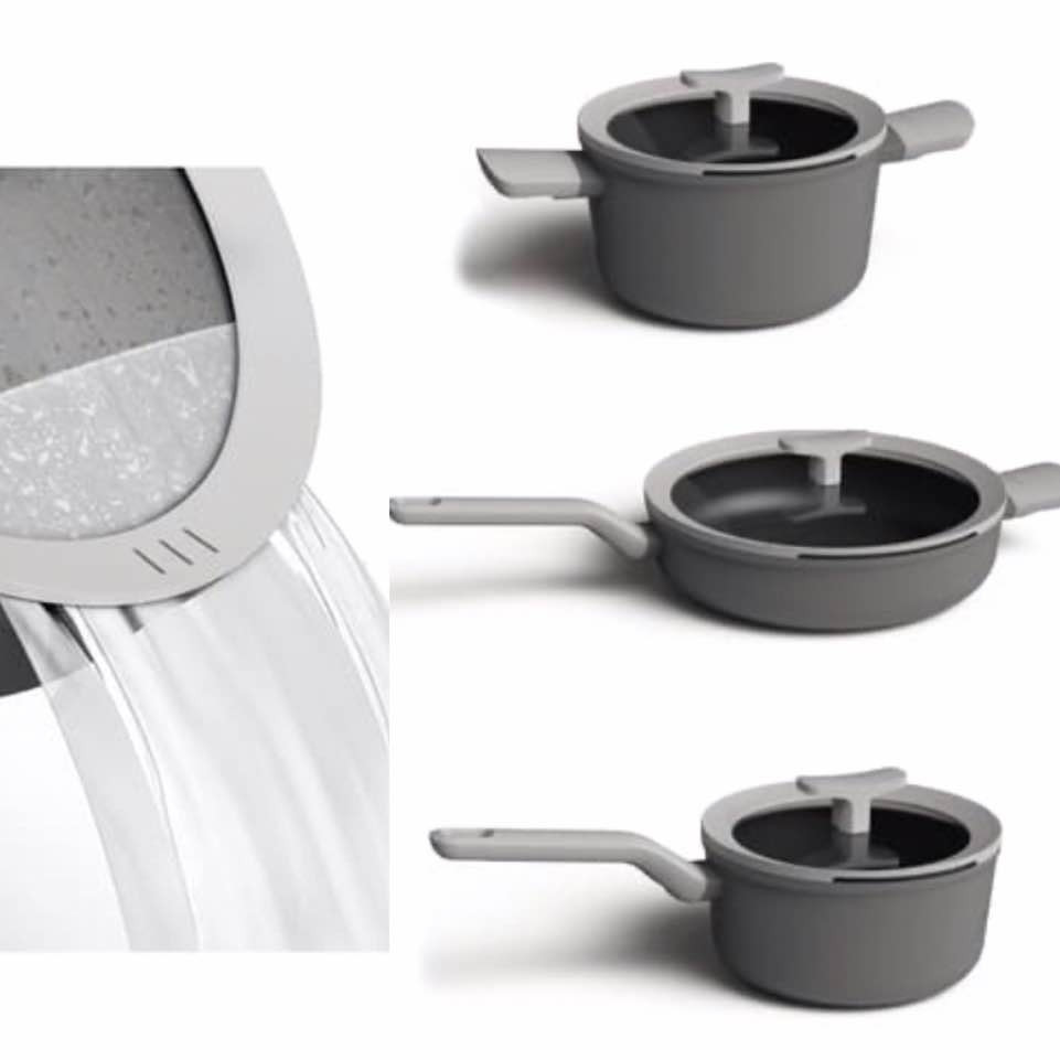 Berghoff Leo Gray Non-Stick Cookware Set