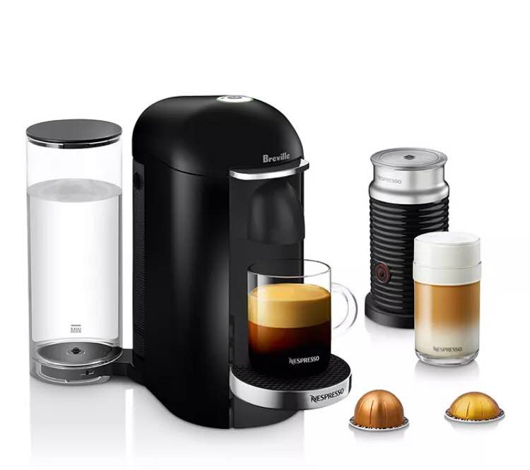 Nespresso® by Breville® VertuoPlus Deluxe Coffee and Espresso Maker Bundle with Aeroccino