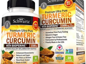 Turmeric Curcumin with BioPerine1500mg (90-capsules) $12.13 (35% Off)