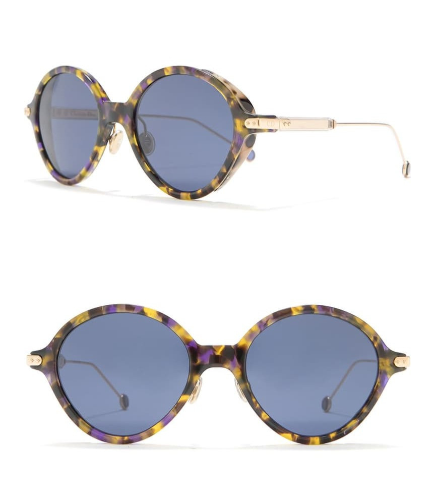 Christian Dior 52mm Umbrage Round Sunglasses