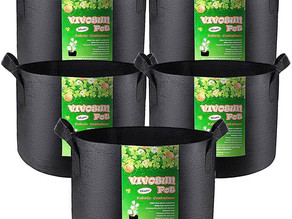 Plant Grow Bags 15 Gallon, 5-Pack $16.99