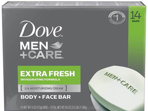 Dove MEN + CARE Extra Fresh Bar Soap 14-Ct $9.48