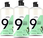 9 Elements Dishwashing Liquid Dish Soap, 16-oz X 3-Pk $8.97