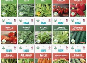 Organic Garden Essentials Vegetable Seeds Variety (15-Pack) $14.98 (57% Off)