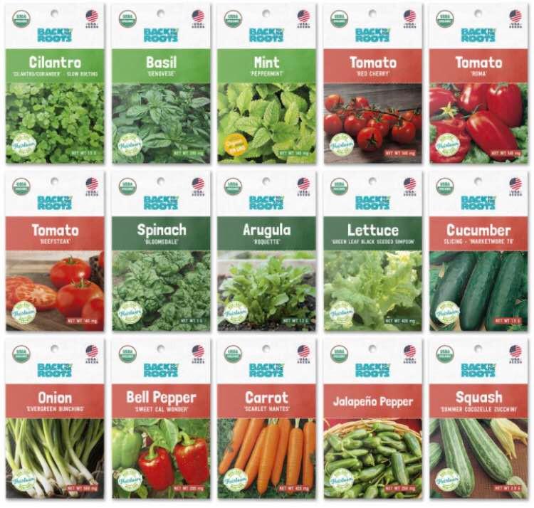 Organic Garden Essentials Vegetable Seeds