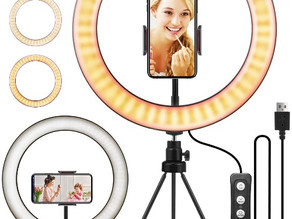 """10.2"""" Selfie Ring Light with Tripod Stand $13.79 (40% Off)"""