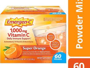 Emergen-C Vitamin C 1000mg Powder 60 Count, Super Orange $11.81