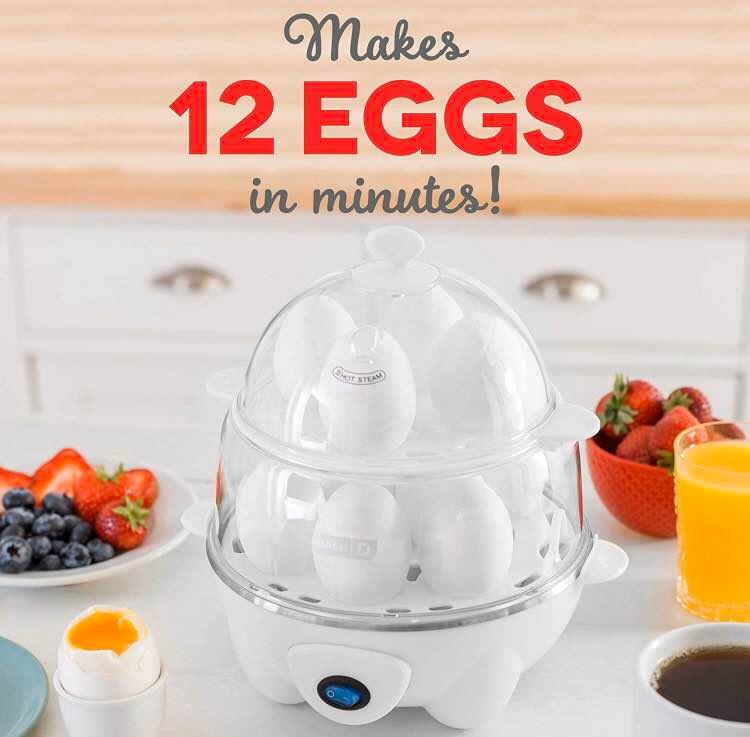 Dash DEC012BK Deluxe Rapid Egg Cooker Electric | Kongdeals 콩딜은 핫딜, hot deals, 할인쿠폰,아마존 할인코드, 아마존 쿠폰 코드, coupons, promo code, coupon code, freesbees, 무료 선물등  특별히 선별된 미국 쇼핑 채널 및 브랜드 정보를 매일 공유합니다.
