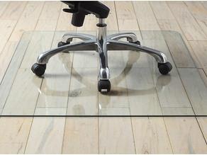 "Tempered Glass Chair Mat 36"" $45.98 (51% Off)"