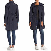Cole Haan Packable Hooded Rain Coat $59.97 (85% Off)