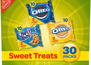 Nabisco Cookies Variety 30-pack $6/Oreo, Chips Ahoy, & Golden Oreo