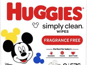[종료] Huggies 베이비 물티슈 $5.90불(<<$12.42불)  9팩/ 총576장/ 아마존 50% 할인 쿠폰