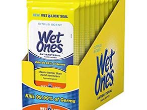 세균 잡는 Wet Ones Hand Wipes 20장들이 X 10팩 $9.66 (<<$14.90) / 아마존 할인 쿠폰